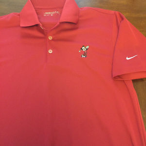 Mickey Mouse Nike Dri Fit Golf Polo Shirt